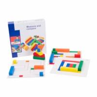 Measure and compare in cardboard box