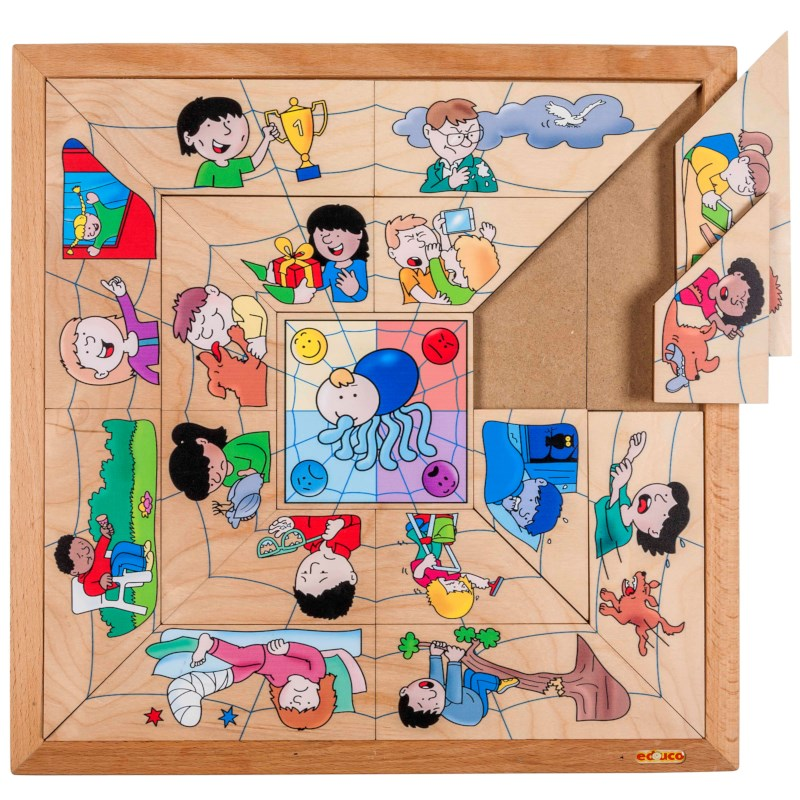 Spider sorting puzzle - emotions
