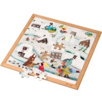 Extreme cold l Wooden puzzle l 64 puzzle pieces l Educo