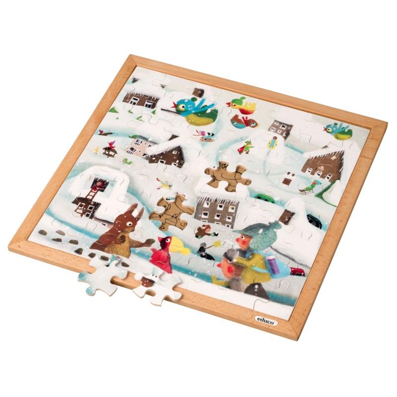 Extreme cold l Wooden puzzle l 64 puzzle pieces l Educo