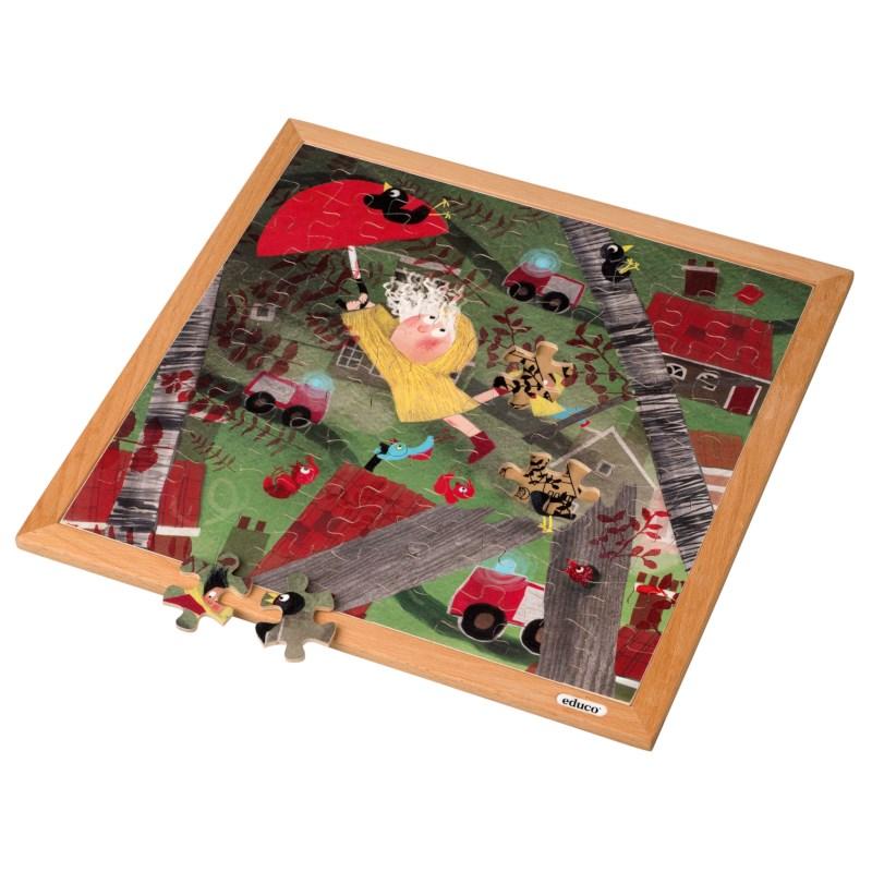 Extreme wind l Wooden puzzle l 81 puzzle pieces l Educo