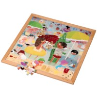 Extreme heat l Wooden puzzle l 81 puzzle pieces l Educo
