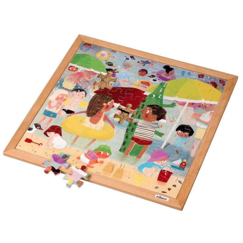 Extreme heat l Wooden puzzle l 81 puzzle pieces l Educo