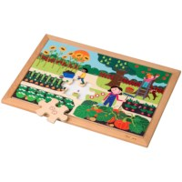 Math puzzle - quantities up to 6 l 24 wooden puzzle pieces l Educo