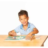 Math puzzle - quantities up to 6 l 24 wooden puzzle pieces l Educo