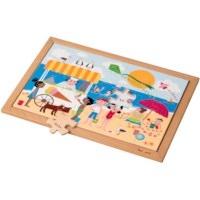 Math puzzle - addition and subtraction up to 12 l 35 wooden puzzle pieces l Educo