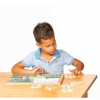 Math puzzlesnumber sense - set of 4 l Wooden puzzles l Educo