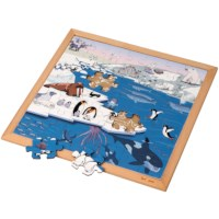 Vocabulary puzzle polar regions l Wooden puzzles l 49 puzzle pieces l Educo