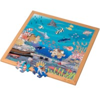 Vocabulary puzzle coral l Wooden puzzles l 49 puzzle pieces l Educo