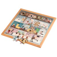 Vocabulary puzzle - personal hygiene l Wooden puzzles l 49 puzzle pieces l Educo