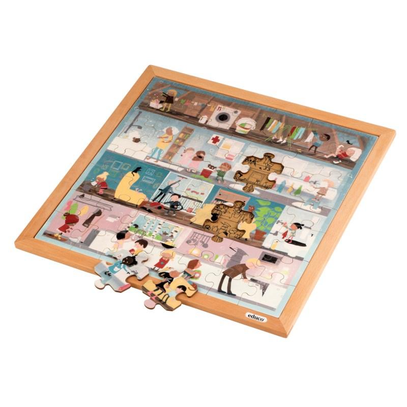 Vocabulary puzzle - personal hygiene l Wooden puzzles l 49 puzzle pieces l Educo