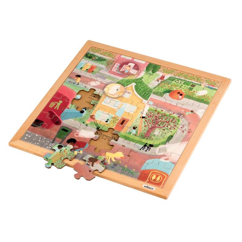 Vocabulary puzzle - general hygiene l Wooden puzzles l 49 puzzle pieces l Educo