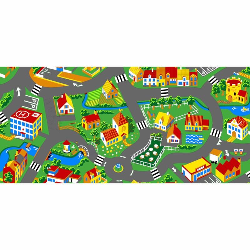 Traffic play mat city 140 x 200 cm