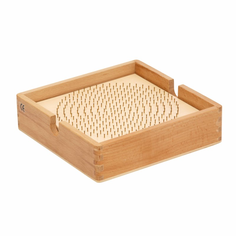 Bead board wood - round with box