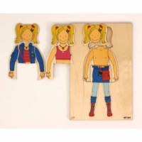 Getting dressed puzzle - girl