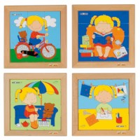 Puzzle set girls - set of 4