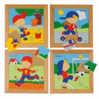 Puzzle set boys - set of 4