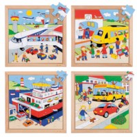 Transport puzzles - set of 4