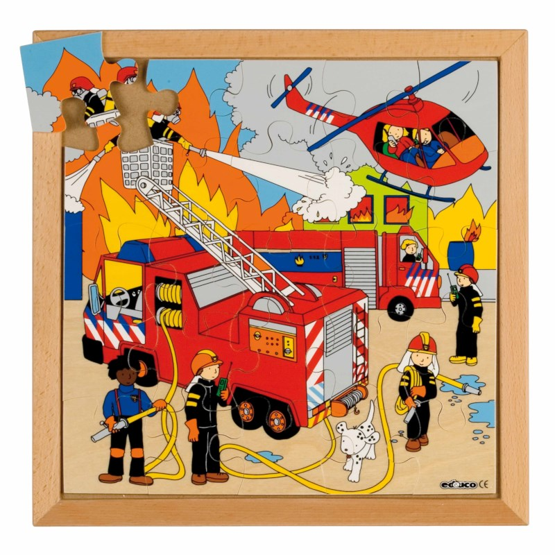 Street action puzzle - fire