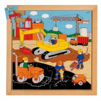 Street action puzzle - road building