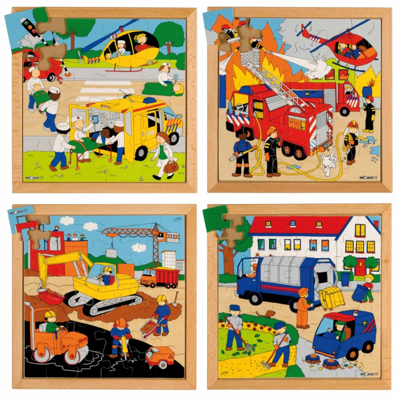 Street action puzzles - set of 4