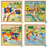 Recreation puzzles - set of 4