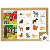 Sorting lotto wood- and farm land animals