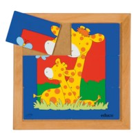 Animal puzzle mother + child - giraffe