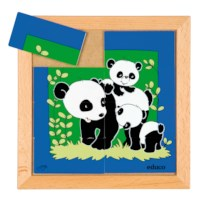 Animal puzzle mother + child - panda