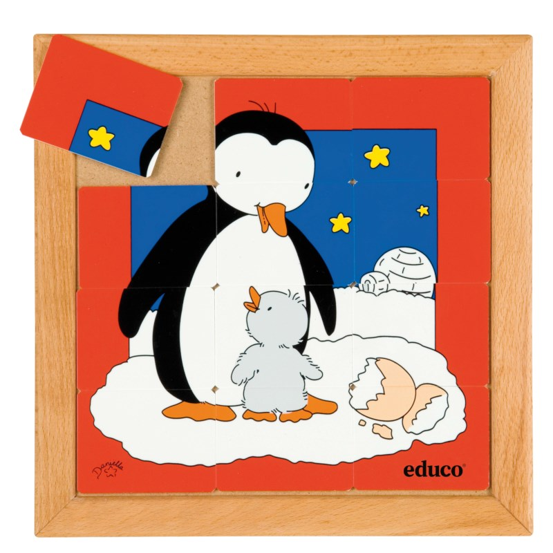Animal puzzle mother + child - penguin
