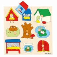 Knob puzzle surprise - animal houses