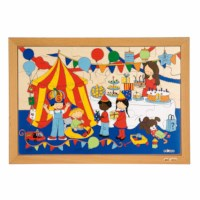 Children's activities puzzle - party