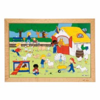 Children's activities puzzle - farm visit