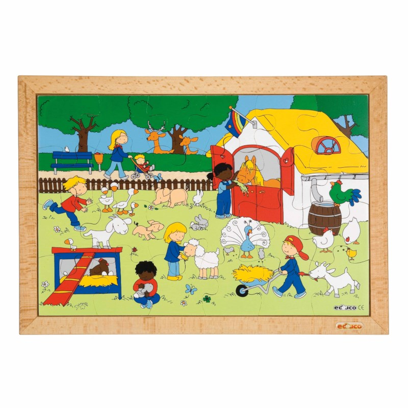 Children's activities puzzle - farm visit