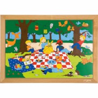 Children's activities puzzle - picnic