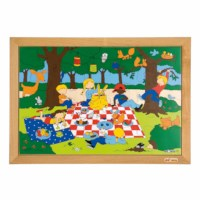 Children's activities puzzle - playground