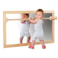 Infant / Toddler Mirror With Wooden Bar