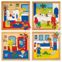 Hygiene puzzles - set of 4