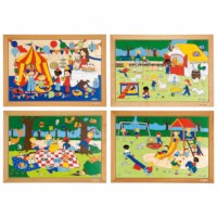 Children's activities puzzles - set of 4