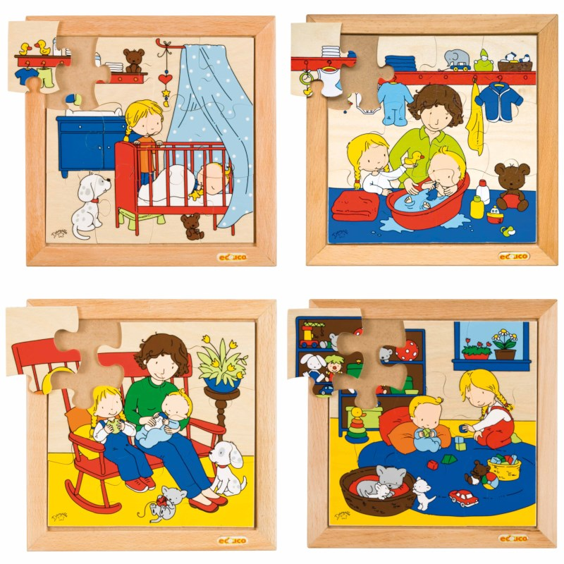 Baby puzzles - set of 4