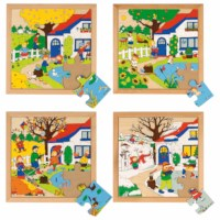 Seasons puzzles 1 - set of 4