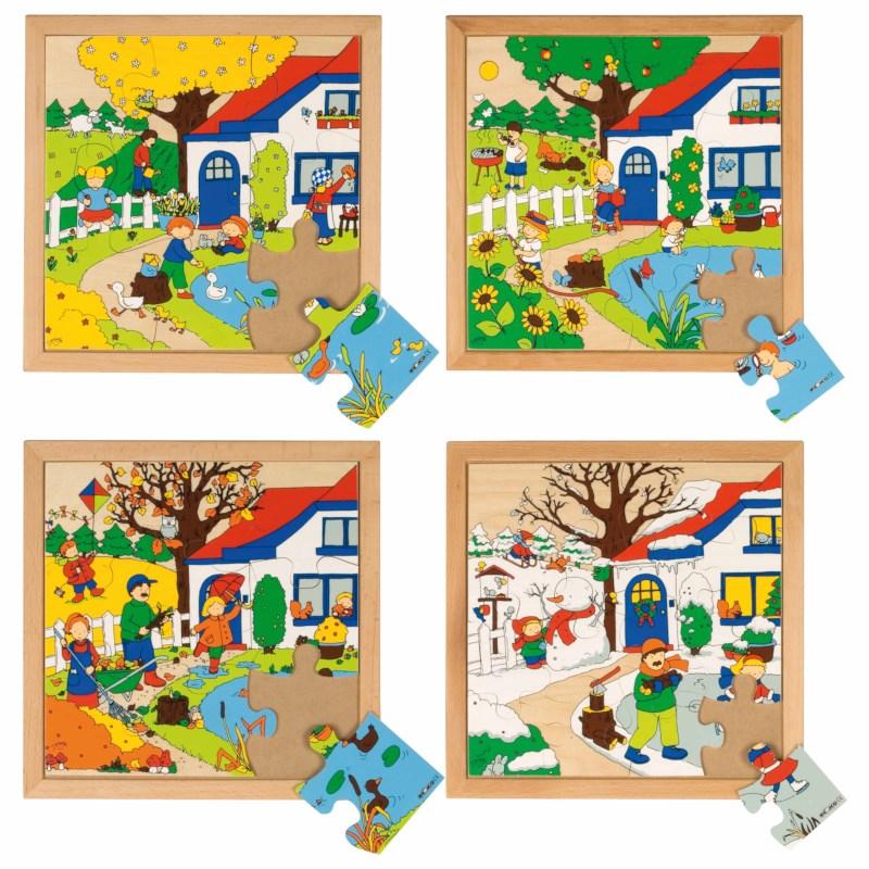 Seasons puzzles 1 - set of 4