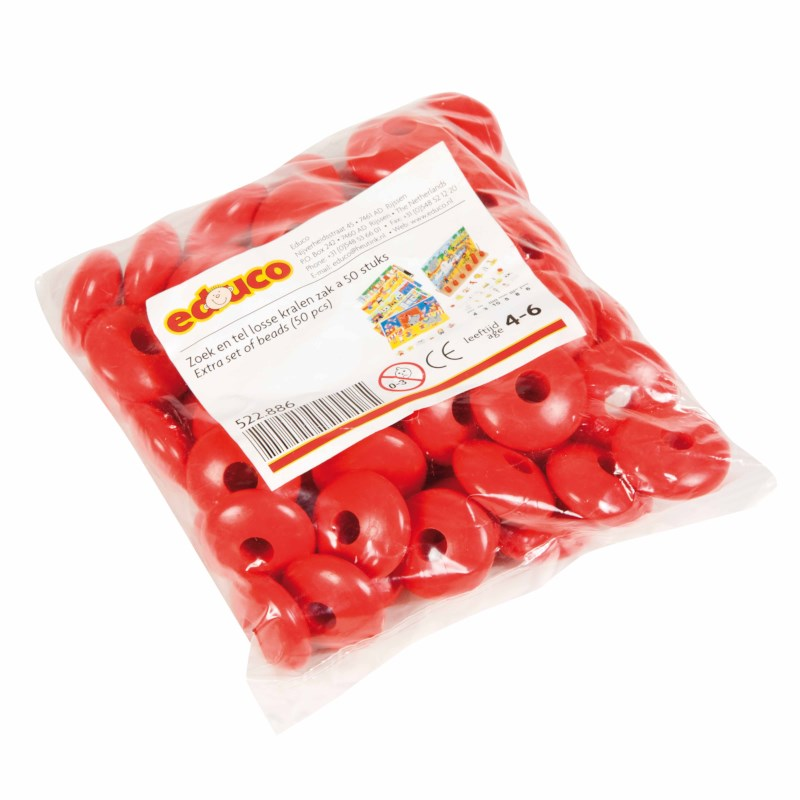 Find and count- additional red beads (100)