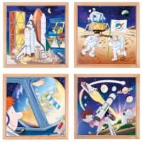 Astronautics puzzles - set of 4