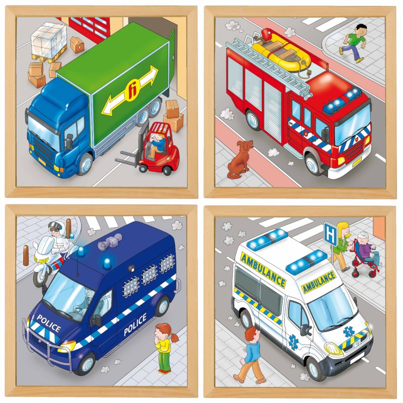 Puzzles in 2 layers - set of 4