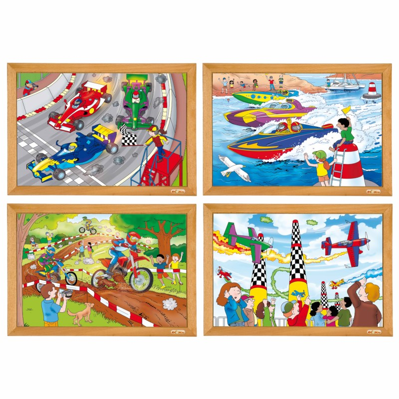 Power puzzles AR - set of 4