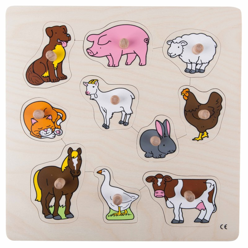 Knob puzzle -  farm