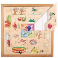 Spider sorting puzzle - the four seasons