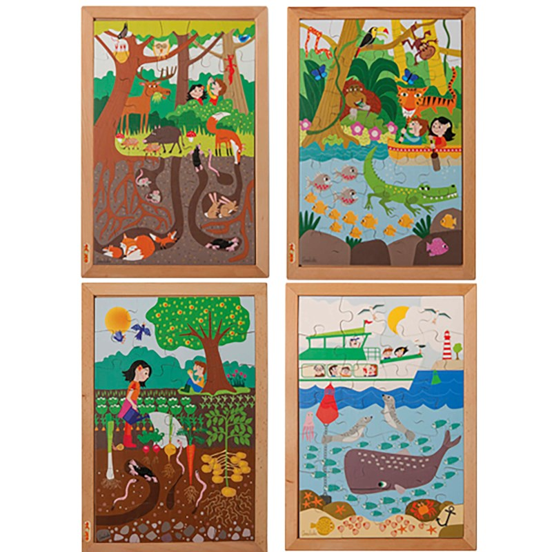 Above and beneath puzzles - set of 4