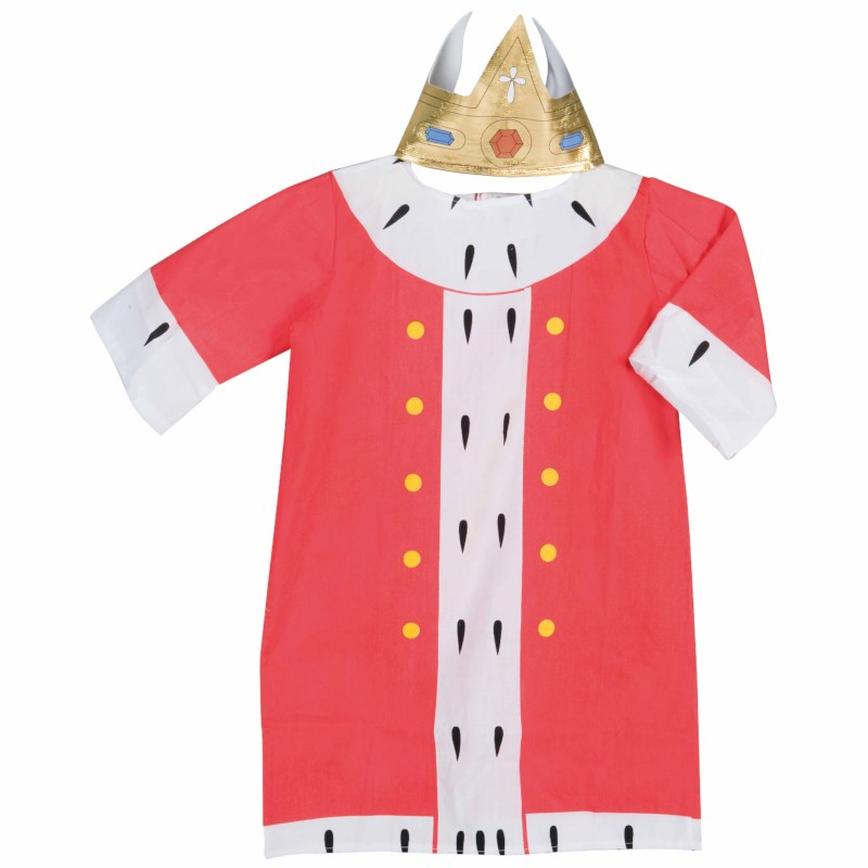 Dress up clothes - king (incl. crown)